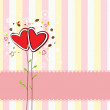 Royalty-Free Stock Vector Image: Cute heart tree and sweet background