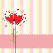 Cute heart tree and sweet background — Vettoriale Stock