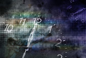 Twelve o'clock with horror background — Stock Photo