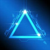 Triangle frame modern design — Stock Vector