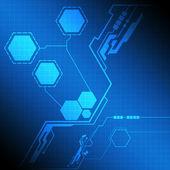 Pantalla de interfaz moderna tecnología — Vector de stock