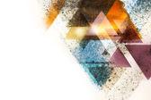 Abstrakt triangel grunge bakgrund — Stockfoto