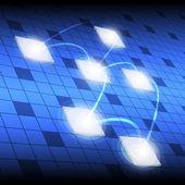 方形按钮和网络 — 图库矢量图片