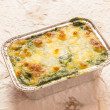 Stock Photo: Bake spinach with cheese