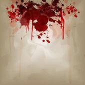 Blood on crumple paper — Stock Vector