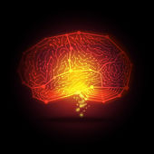 Abstract hi-tech digital brain — Stock Vector