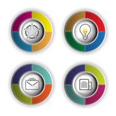 Circle icon object — Vector de stock
