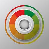 Modern circle button design — Vector de stock