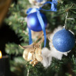 Christmas toy on a tree — Stock Photo