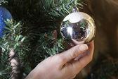 Christmas speelgoed op een boom — Stockfoto