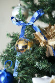 Christmas toy on a tree — Stock fotografie