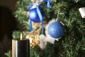 Christmas toy on a tree — ストック写真