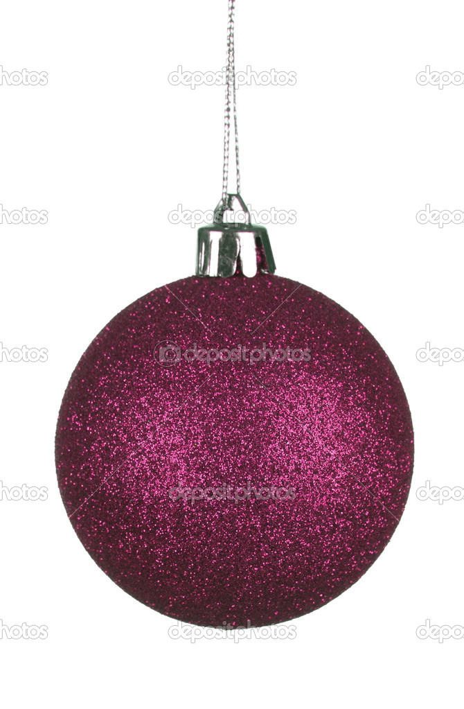 Red christmas ball isolated on white background — Stock Photo #16224405