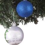 Christmas balls on a fir tree — Stock Photo #16290371