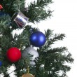 Christmas toys on a tree — Lizenzfreies Foto