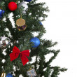 Christmas toys on a tree — Stock Photo