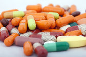 A bunch of pills and capsules studio shot — Stock Photo