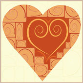 Vector vintage heart — Stock Vector