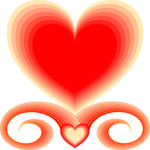 Grec coeur 2 — Vecteur