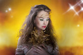 Gorgeous girl, artistic make up, proffesional photo — Stock Photo