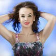 Attractive women on abstract backgrpound, glamour skin and proff — Stock Photo #27247249