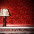 Stock Photo: Night lamp in vintage interior