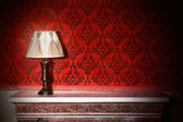 Night lamp in vintage interior — Stock Photo