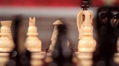 Chess game. Full HD. Motion and loop video. Close up — Stock Video