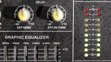 Music mixer and equaliser full hd — Stock Video