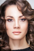 Brunette with professional make up — Stock Photo