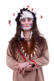 Native america men isolated on white background — Stockfoto