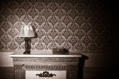 Vintage room interior toned image — Stock Photo