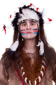 Portriat of native american men in studio — Foto Stock