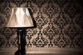 Vintage lamp in old interior from rococo period — Stock Photo