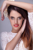 Gorgeous fashion woman with professional make up — Stock Photo