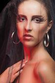 с вале и готический макияж — Стоковое фото