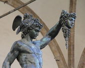 Bronze statue of Perseus. Florence, Italy — Stock Photo