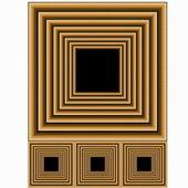 Dřevěné rámy — Stock fotografie