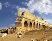 Ancient aqueduct. Israel — Stock Photo
