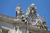 St Peter Basilica clock — Stock Photo