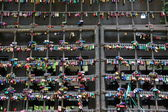 Wall of closed locks in Verona - Italy — Stock Photo
