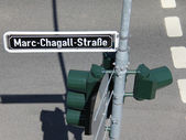 Marc Chagall street sign — Stock Photo