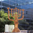 Large menorah — Stock Photo