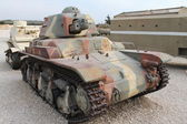 Old French light tank — Stock Photo