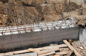 Constraction site. Concrete work — Stock Photo