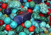 Ornamental turquoise gem — Stock Photo
