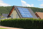 Domestic solar panels — Stock Photo