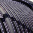 Cable coil closeup - Stock Photo