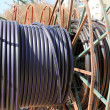 Cable coil closeup — Stock Photo