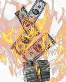 Финансовый кризис — Стоковое фото